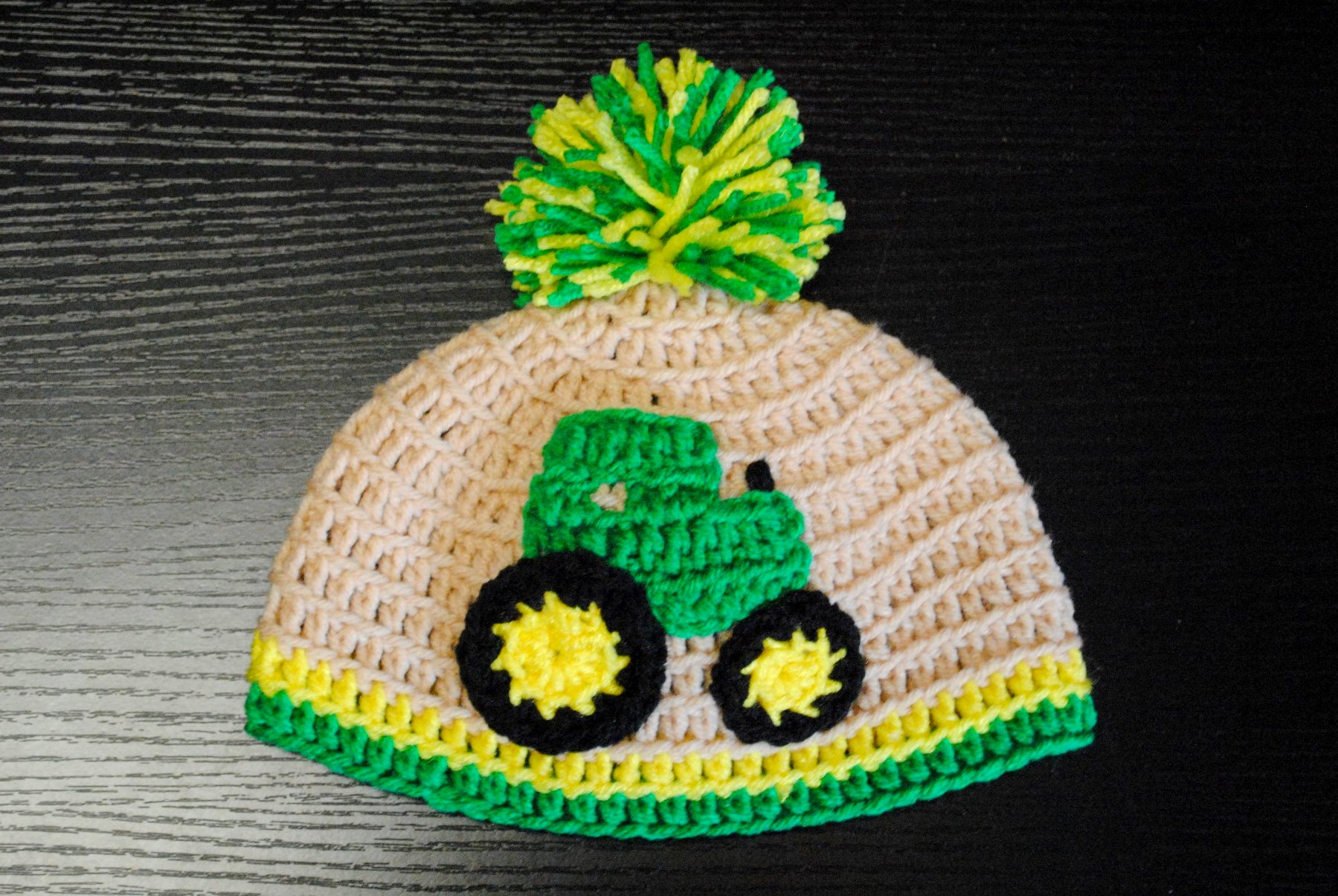 and another one done! John Deere infants hat  5cf8b8d8069
