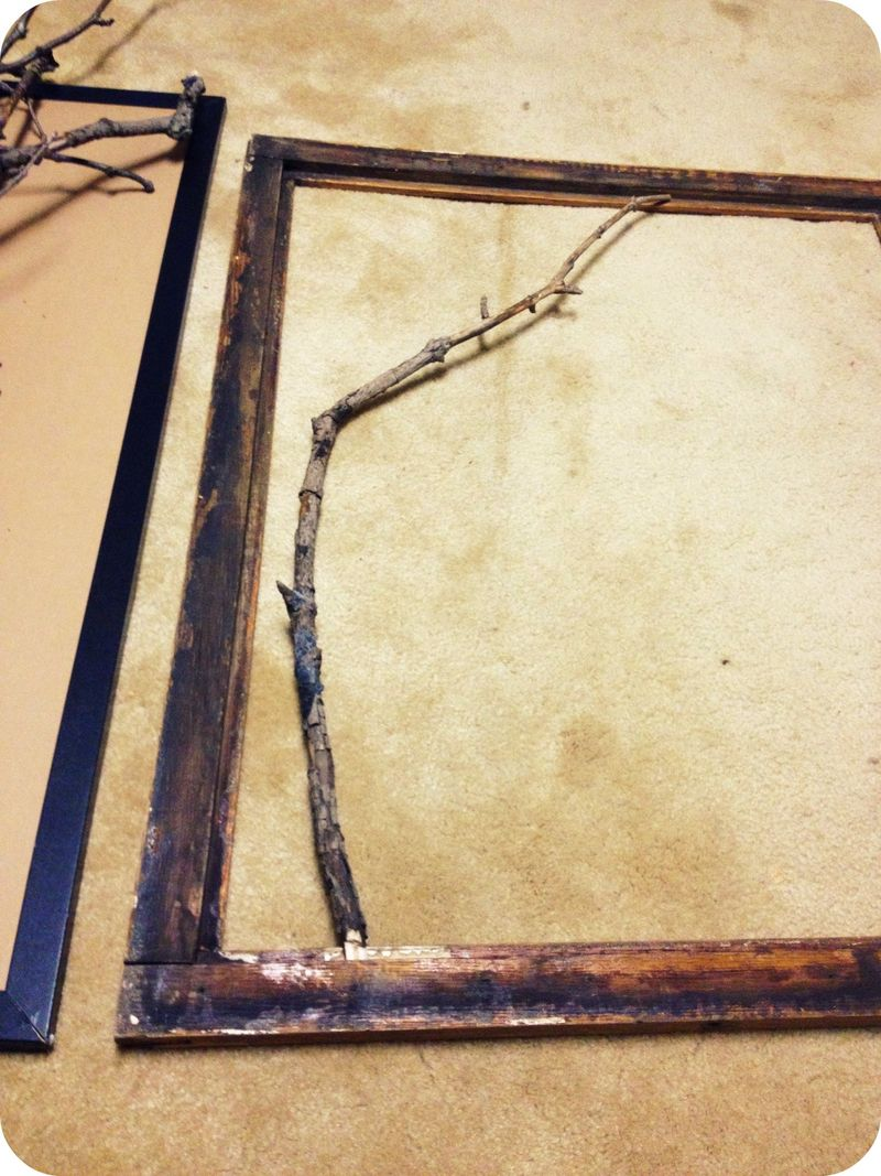 Diy Framed Branches Craftgrrl Where Crafters Unite
